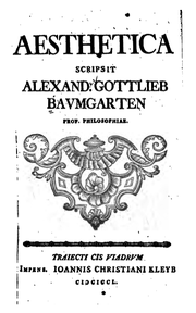 Alexander Gottlieb Baumgarten, Aesthetica