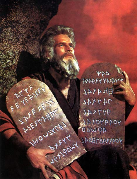 Charlton Heston als Moses